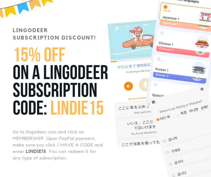 20% off on lingodeer premium with code lindie20