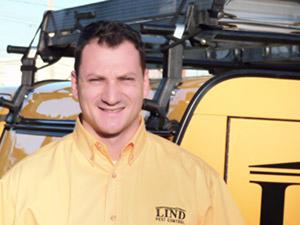 Lind Pest Control employee, Caleb Nice