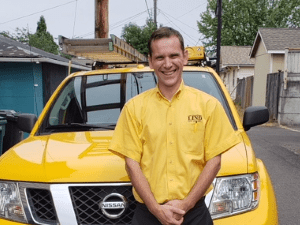 Lind Pest Control employee, Ozzie Beery