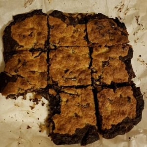 This  low carb brookie - part brownie, part cookie - recipe comes from Aimee. It isn't hers, but one she found on Instagram and it's now her favorite so we thought we'd share it with you.