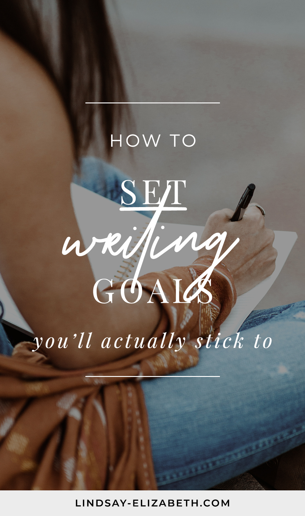 Setting writing goals can be helpful for keeping you on track so you can consistently make progress towards your dream of finishing your book and becoming a bestselling author but figuring out what those goals should be can be a separate challenge altogether. If you're looking for some structure to help you consistently move forward with your writing projects without burning out or losing motivation, then try out these tips for setting writing goals that will actually work for you. // writing a book | writing a novel | writers | authors