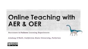 Online teaching with AER and OER