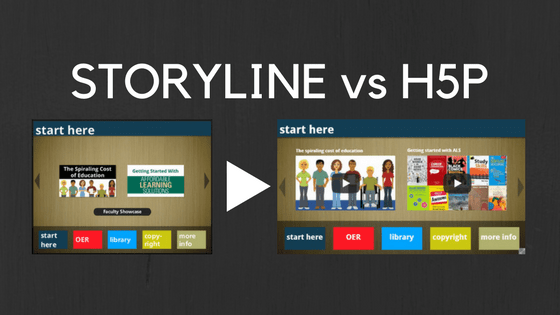 Storyline vs. H5P: Recreating an open education tutorial