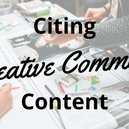 Citing Creative Commons Content