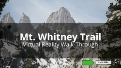 Screenshot of Mt. Whitney VR tour for the desktop