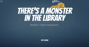 There's a monster in the library screenshot