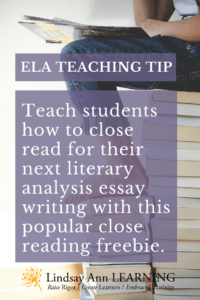 How To Teach Close Reading Analysis In The High School Classroom   Student Writers To Ela Teaching Strategy For Close Reading Analysis