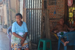 A local woman resting at home in El Cuco.