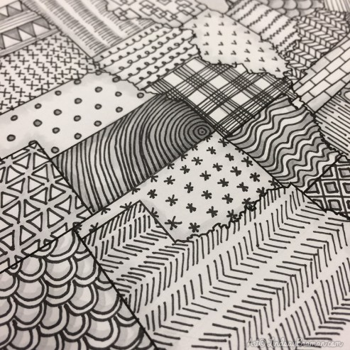 patterns can be one way to color adult coloring book pages more mindfully