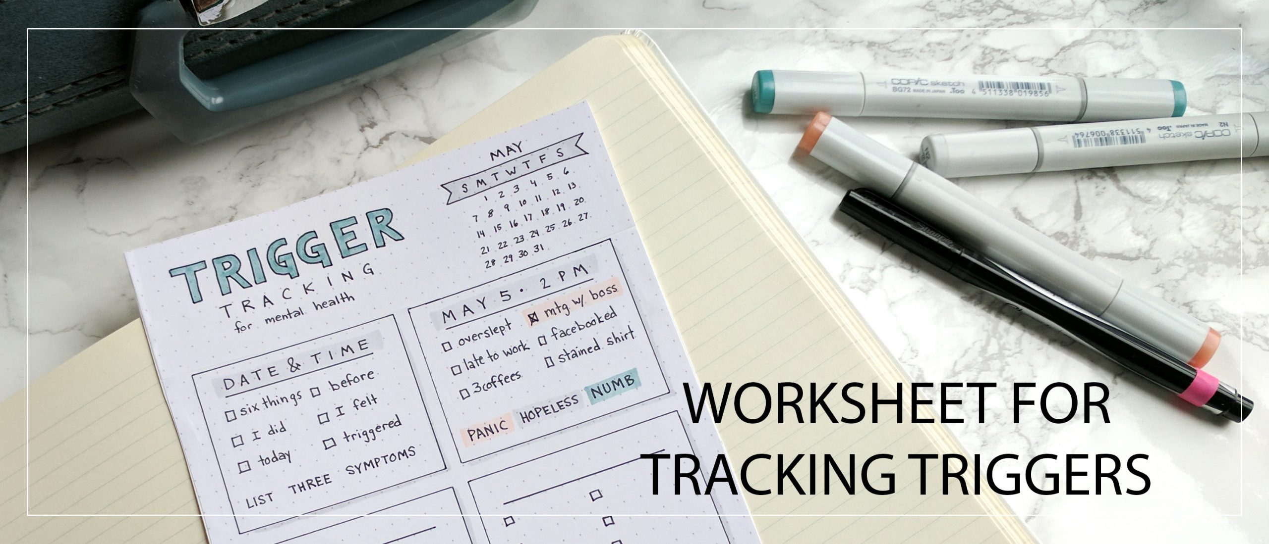 Trigger Tracker Worksheet For Mental Health Journaling And