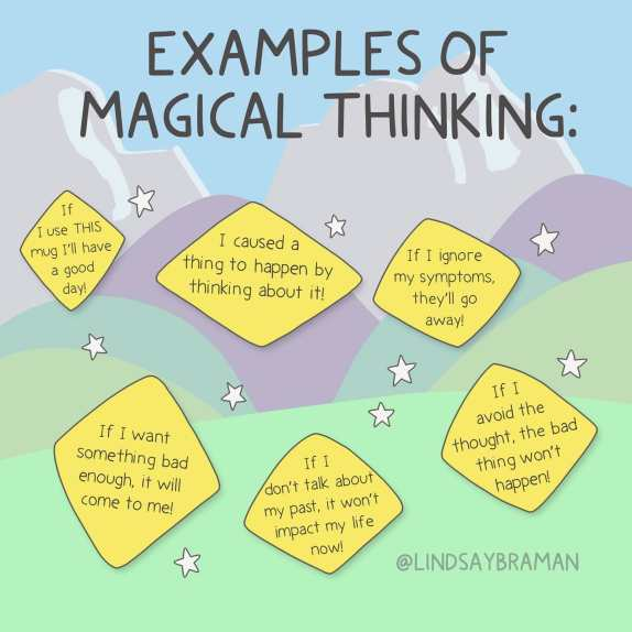 Magical thinking is a thought pattern that...