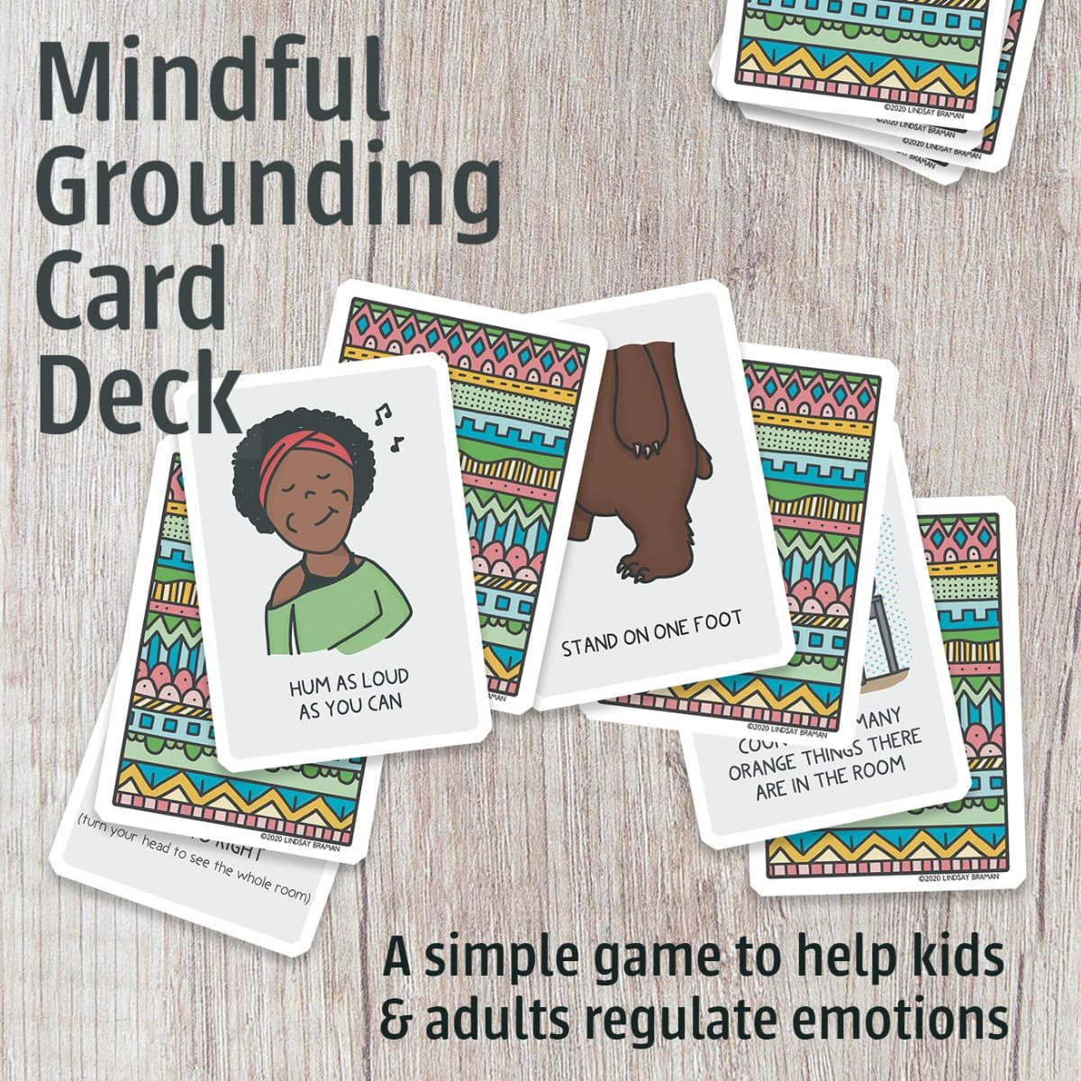 Mindfulness Card Deck For Trauma Sensitive Grounding