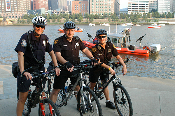 Police Officers on Bikes