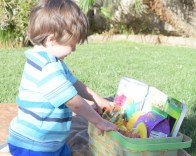 Dutch Exploring his Easter Basket