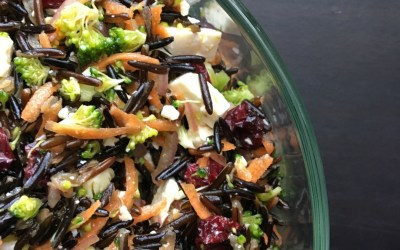 Wild Rice Salad with Cranberries and Feta