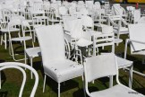 185 Empty White Chairs, Earthquake Memorial, Christchurch, New Zealand