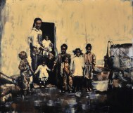 """Family"" / Oil on Canvas / 84"" x 72"" / For Sale"