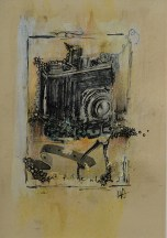 Camera / Mixed Media on Paper