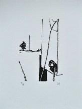 Kansas / Ink on Paper / Lino-Print