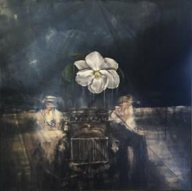 """Magnolia / Oil / 30 x 30"""""""