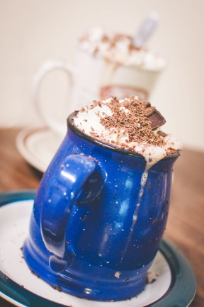 Nuni made us these amazing mint hot chocolates. WHAT. A. TREAT.