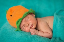 Happy Hallowe'en from our little pumpkin!