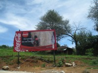 Coke advertising with Maya traditional dress