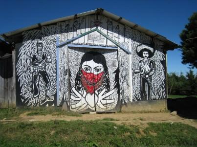 Zapatista mural, Oventik