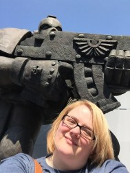 Selfie with a Space Marine - a must!