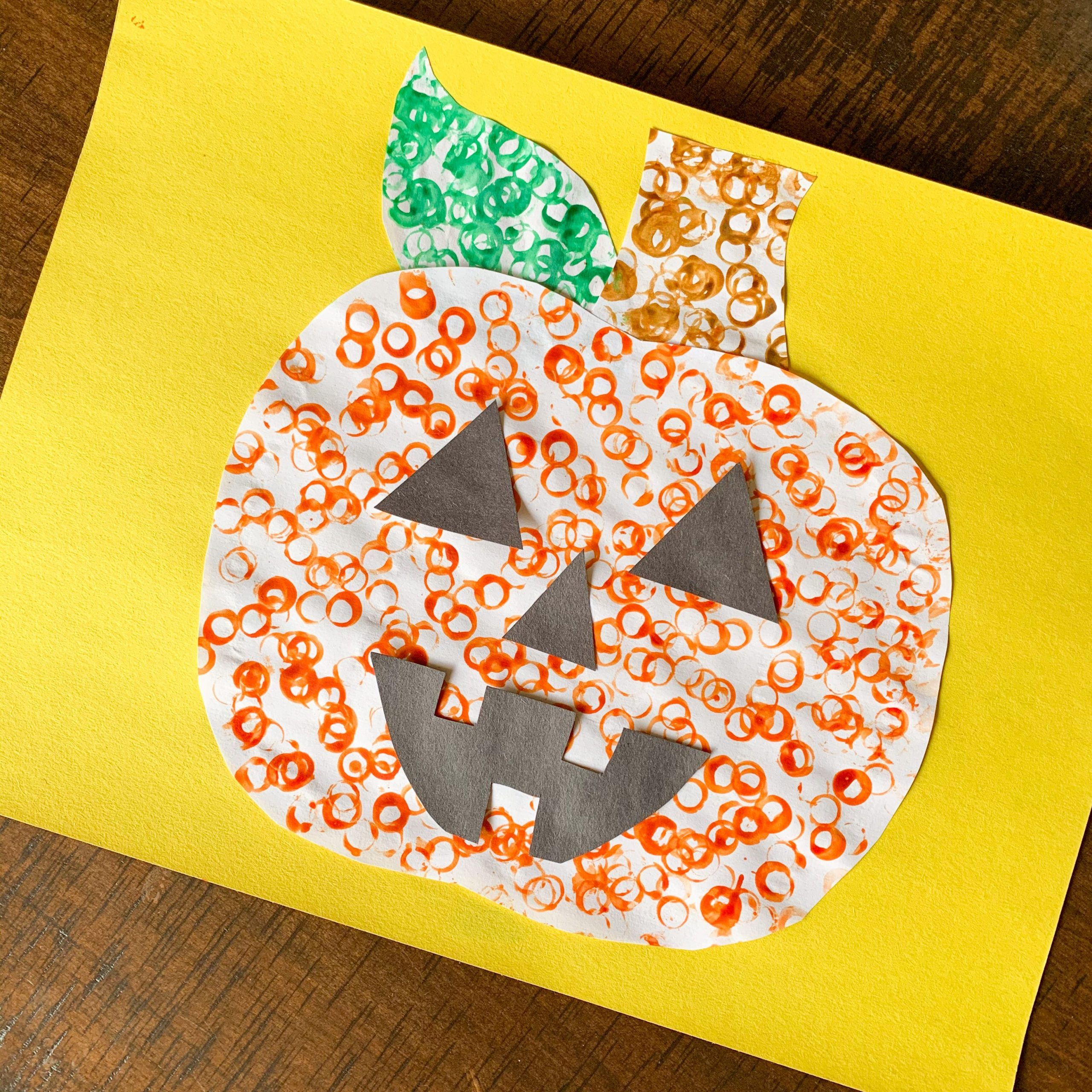 Simple Halloween Stamping Craft For Kids