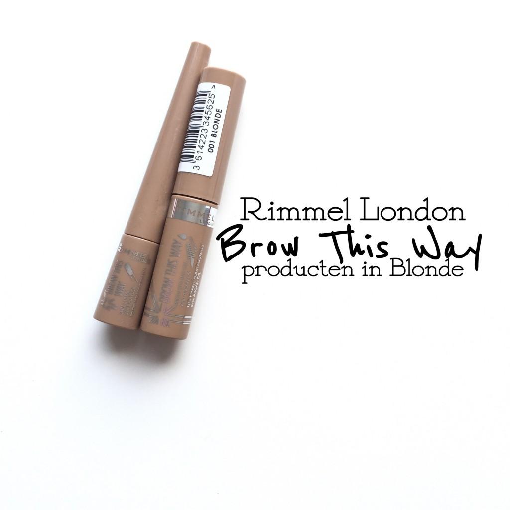 Rimmel Brow This Way producten in Blonde