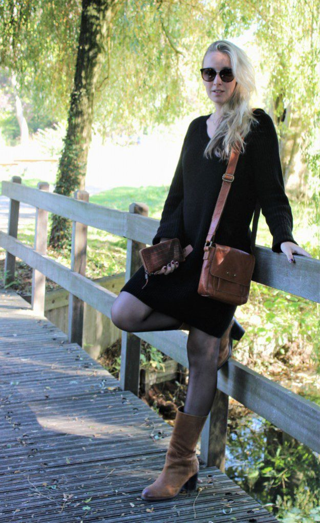 OOTD Black Sweater Dress