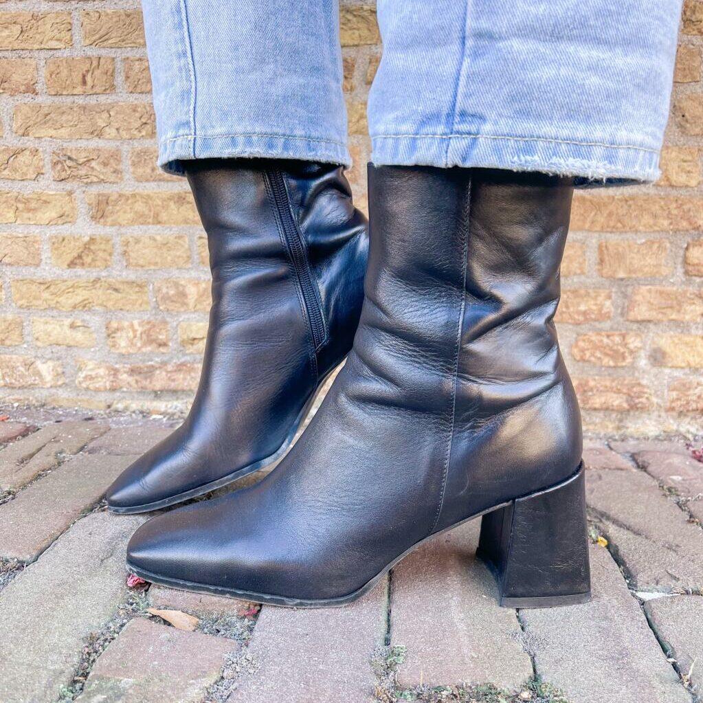 Schoenen met vierkante neuzen