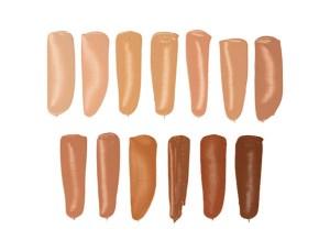 13 shades of liquid foundation