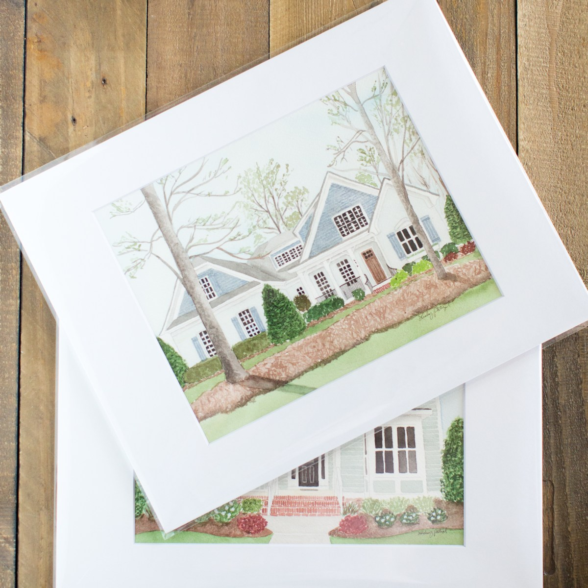 photo of Lindsey's house paintings