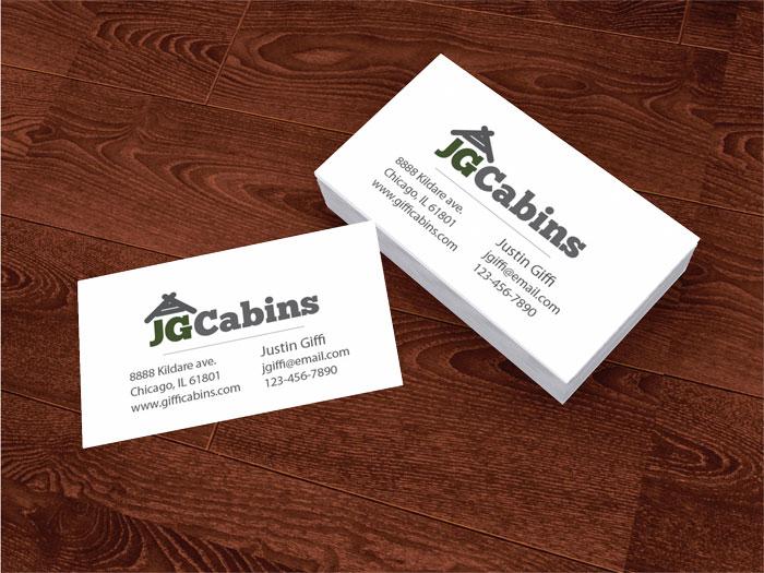 JGcabins_logo_businesscardmachup_700x525