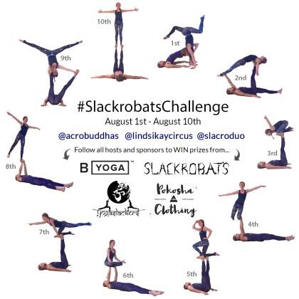 slackrobats lindsikaycircus lindsikay acrobuddhas slacroduo yogaslackers acroyoga challenge byoganow pokosha