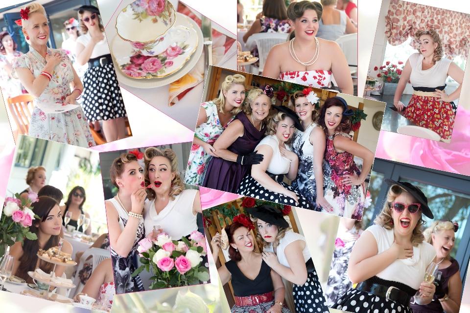Tea Party Collage e