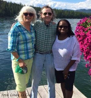 Lindy, Creighton & Jocelyn at Hill's Resort.