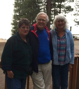 Diana, Duncan and I at Crescent Lake Resort.