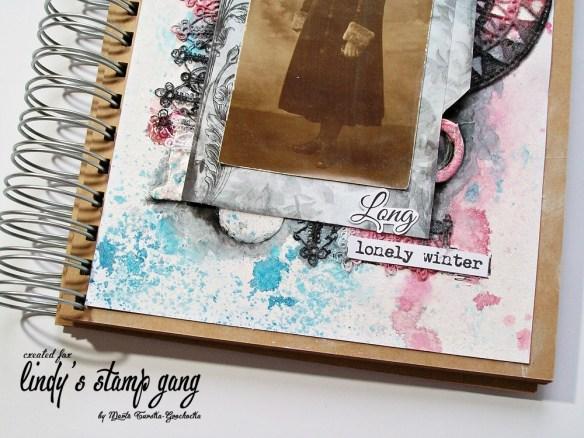 Mixed Media Art Journal Page By Marta Turska Grochoka Part