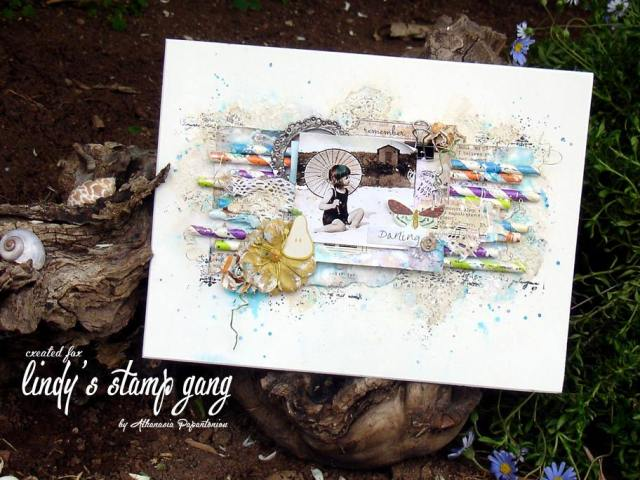 athanasia Papantoniou Lindy's Stamp Gang May color challenge 1
