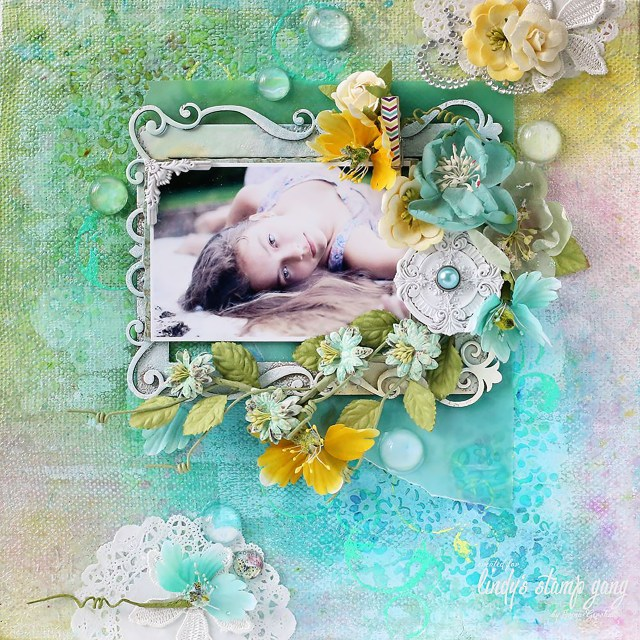 irina drop dead diva scrapbook layout