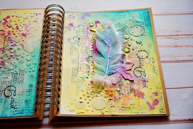 marta art journal dropdeadiva magicals sprays 2