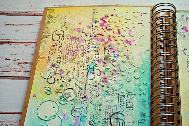 marta art journal dropdeadiva magicals sprays 3