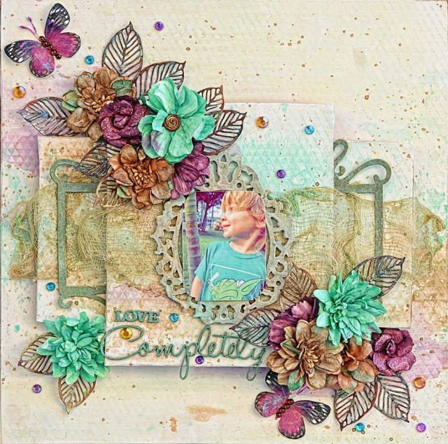 scrapbook page lindy's color challenge lisa
