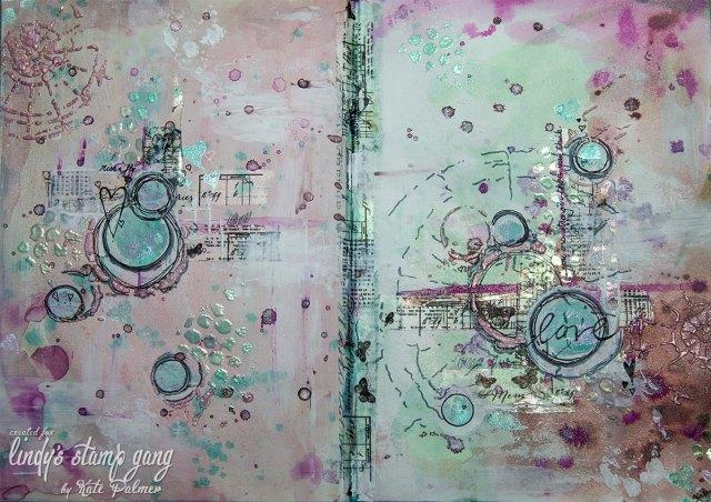 art journal lindy's color challenge kate