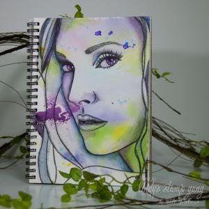 art journal page color challenge may 2016