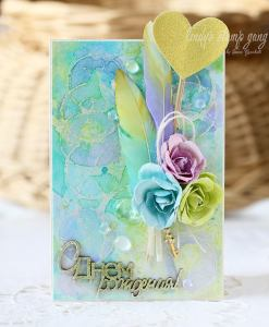 card paper crafts color challenge may 2016