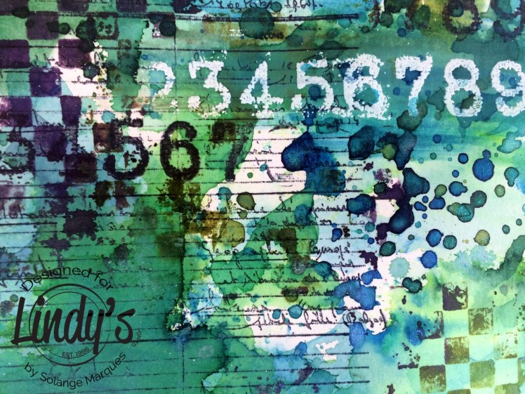 Art Journal Page by Solange Marques with Lindy's Stamp Gang products-08